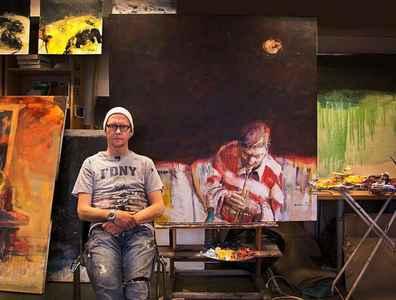 Stein Smaaskjær i atelieret