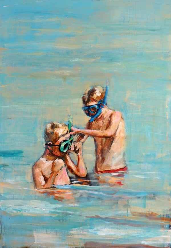 Snorkletur med gutta